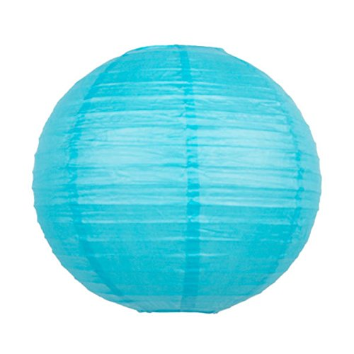 Light Blue Aqua Chinese Lantern Wedding Decorations, 12