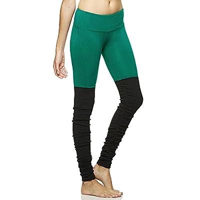 MAYUAN520 Mme Winter Yoga Respirant Sec Pantalons Pantalons Slim Couture Tricot Côtelé Pantalon Taille Pantalon, Remise En Forme De S (Un Peu Plus Grand),Vert Noir