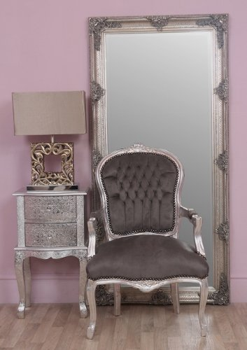 Grey And Silver Shabby Louis Chic French Style Chair   FREE SHIPPING UK  MAINLAND
