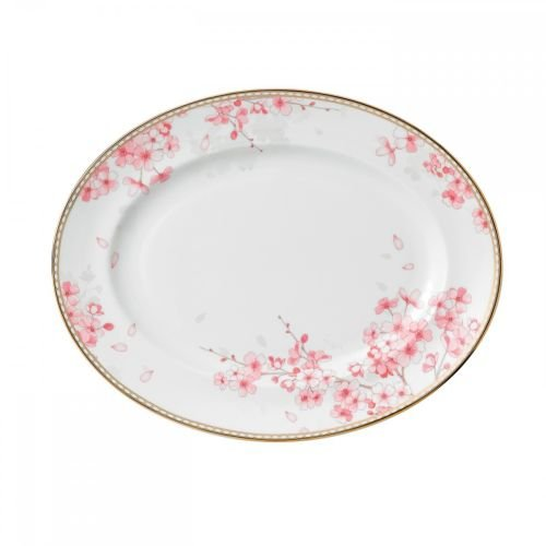 - Wedgwood Spring Blossom Oval Platter, 13.75