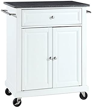 crosley furniture cuisine kitchen island with solid black granite top   white amazon com  crosley furniture cuisine kitchen island with solid      rh   amazon com