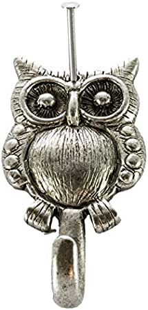 Small Owl Wall Hook Set Of 3 Silver Hk 618as Norma Jean Designs Office Products