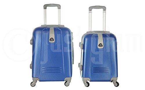 Trolley da cabina valigia rigida 4 ruote in abs policarbonato antigraffio e impermeabile compatibile voli lowcost come Easyjet Rayanair art 6802 / piccola royal