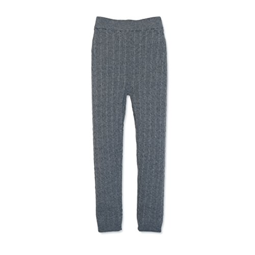Hope & Henry Girls' Grey Cable Sweater Legging Made With Organic Cotton Size 18-24 Months - Organic Cotton Cable Sweater