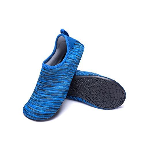 de LK Zapatos Agua de Agua de de Calzado Piscina Playa Zapatos Hw Rápido de LEKUNI blue Respirable Unisex Soles Natación Secado Color XIxOqnxZA
