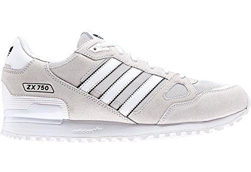 adidas Zx 750, Zapatillas de Deporte para Hombre Blanco (Ftwbla / Ftwbla / Negbas)