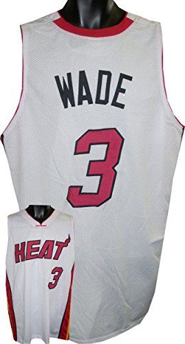 Wade D Jersey (Athlon CTBL-016664N Dwyane Wade Unsigned Custom Stitched Pro Style Basketball Jersey - White - Extra Large)