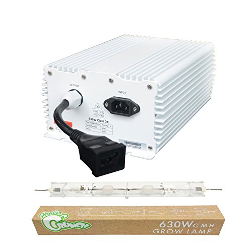 Hydro Crunch 630-Watt Double Ended Ceramic Metal Halide Ballast with DE CMH 3100K Lamp