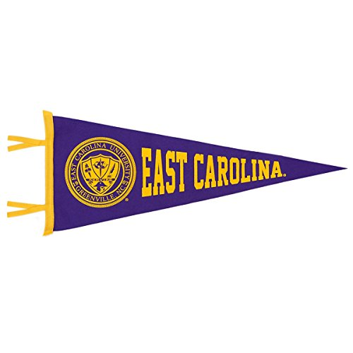 Seal Pennant - Collegiate Pacific East Carolina Purple Horizontal Pennant with ECU Seal/Crest
