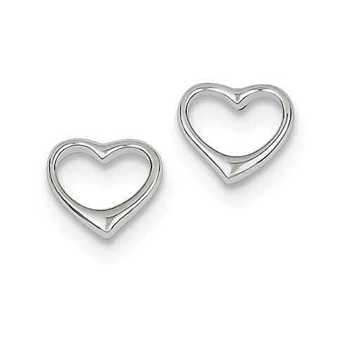 Sterling Silver Open Heart Post Earrings (Approximate Measurements 8mm x ()