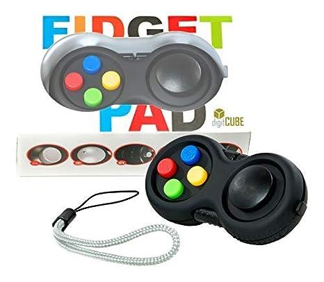digitCUBE Fidget Pad Controller für Kinder - Gamepad Spielzeug für Junge Mädchen Geburtstag (Schwarz)