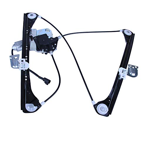 SHOWSEN Front Driver (Left) Side New Aftermarket Replacement Power Window Regulator with Motor Assembly For 99-05 Olds Alero/Pontiac Grand Am 4 Door Sedan