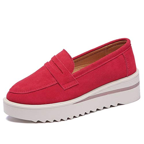 T-JULY Women Flats Shoes Leather Platform Sneakers Casual Shoes Women Slip On Flats Loafers Ladies Shoes Mocassins -