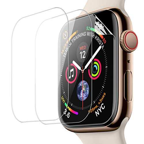 Screen Protector for New Apple Watch Series 4 40mm Screen Protector (3 Pack), [AMBISON] Friendly HD Flexible Film Compatible with Apple iWatch 40 mm Series 4 (40mm)