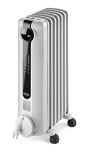 DeLonghi TRRS0715E Radia S Eco Digital Full Room Radiant Heater with Silent Operation DeLonghi Oil Filled Heaters