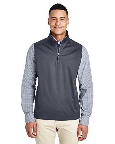 (Ash City Core 365 Men's Techno Lite Three-Layer Knit Tech-Shell Quarter-Zip Vest, Carbon 456, Large)