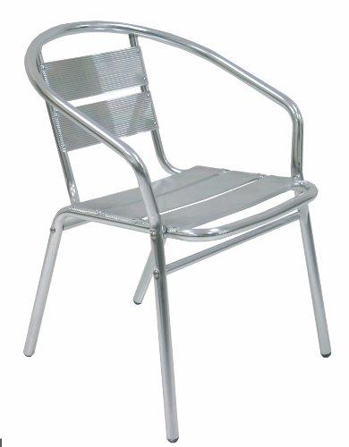 Sedie Alluminio Impilabili.Poltrona Sedia In Alluminio Impilabile Per Tavolo Da Bar Casa Ristorante Campeggio