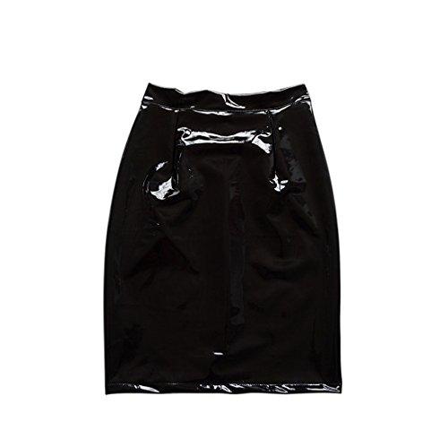 Noir Party Couleur de Cocktail Crayon Soire Cuir Et Jupes Package Genoux Femme Jupe Unie Hanche Sexy xpPSYZwUq7