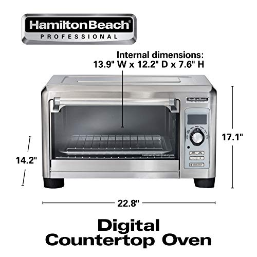 Hamilton Beach Professional Countertop Toaster Oven, Digital, Convection, Large 6-Slice, Temperature Probe, Stainless Steel (31240), by Hamilton Beach (Image #6)