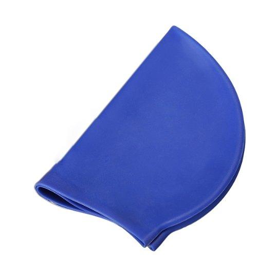 SODIAL(R) Silicone Unisexe Homme Femme Adultes Men Women Adults Piscine Bonnet de Bain Chapeau Protection Hydrofuge