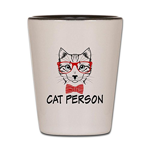Shot Glass White and Black of Cat - Cat Black Himalayan