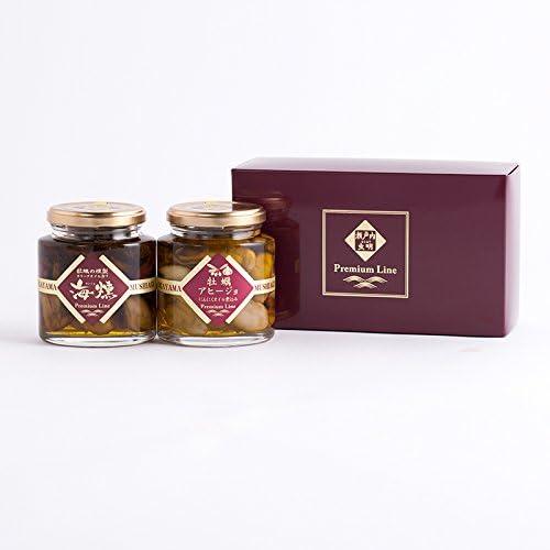 プレミアムライン〔牡蠣の燻製オリーブオイル漬け200g×1 牡蠣のアヒージョ200g×1〕