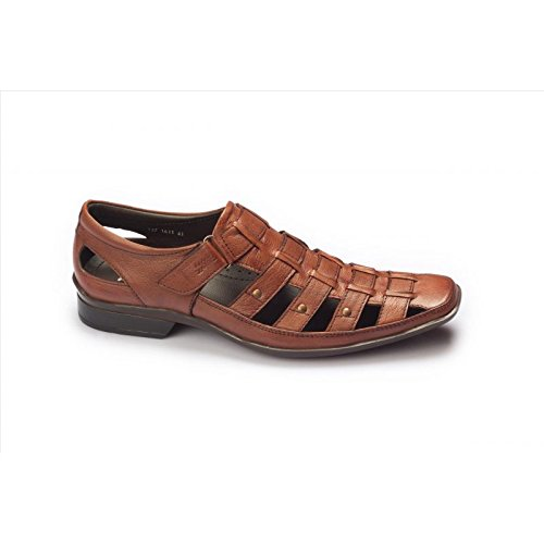 58cac6c4b1beb3 Hitz Men s Tan Leather Slippers - 11 UK  Buy Online at Low Prices in India  - Amazon.in