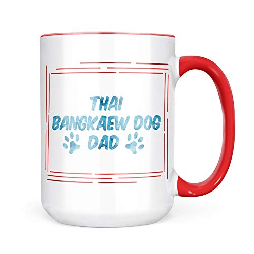 Neonblond Custom Coffee Mug Dog & Cat Dad Thai Bangkaew Dog 15oz Personalized Name