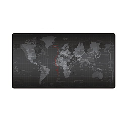 Mouse Pad, JJseason Gaming Mouse Pad Large Computer Mouse Mat Anti-slip Mouse Pads Waterproof Mousepad (World Map)