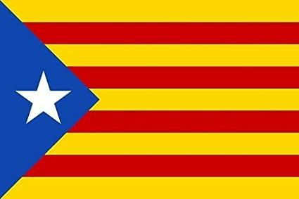 MC-TREND® Gran Bandera de Cataluna Estelada Blava 90x150cm - Catalana - Catalunya: Amazon.es: Hogar