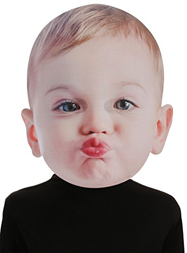 UHC Giant Baby Kissing Face Mask Funny Comical Theme Party -