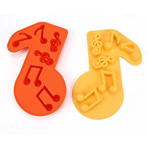 1pcs Silicone Treble Clef Music Note Icing Cake & Cupcake Topper Mould SOLOKA 170112G0521