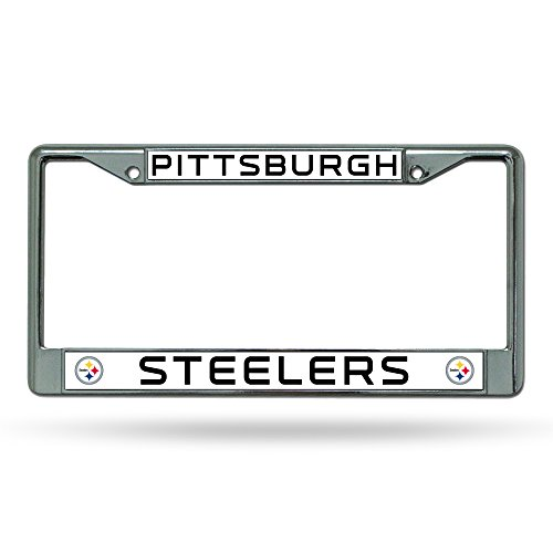NFL Pittsburgh Steelers Chrome Licensed Plate Frame