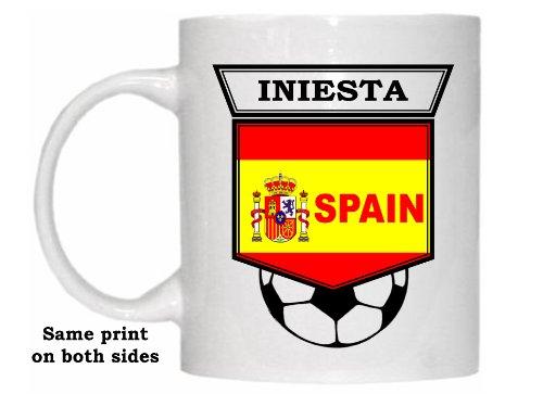 Andres Iniesta (Spain) Soccer Mug by Custom Image Factory