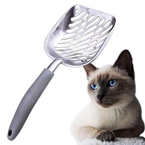 SunGrow Cat Litter Scoop, Pet Poop Shovel with Rubber Handle, With Convenient Hanging Hole, Keeps Litter-Box Neat and…