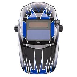 Lincoln Electric K3064-1 Variable Shade Auto-Darkening Welding Helmet, Shade 9-13,  Fierce Blue (Pack of 1)