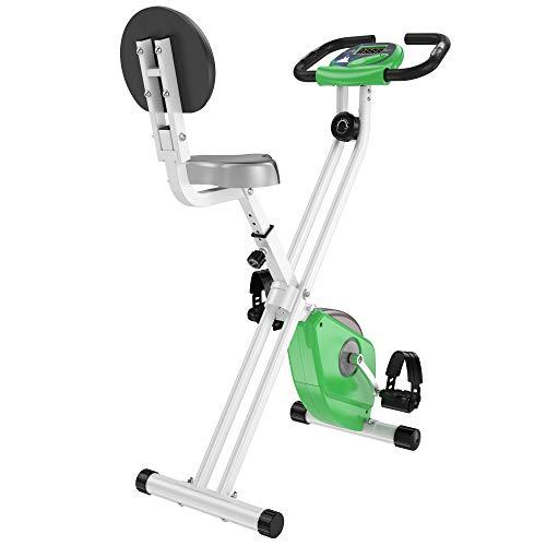 HOMCOM Bicicleta Estática para Ejercicios Profesional Bicicleta Vertical Plegable de Forma X con 8 Niveles Resistencia Magnética Asiento con Altura Ajustable Acero 43x97x109 cm Rojo a buen precio
