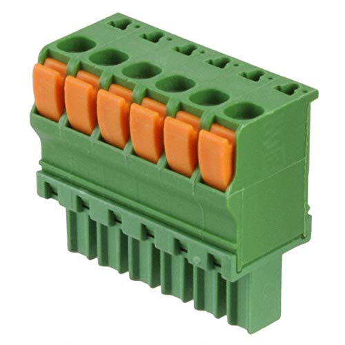 TERM BLOCK PLUG 6POS STR 3.81MM (Pack of 5) (1986722-6) by TE Connectivity AMP Connectors