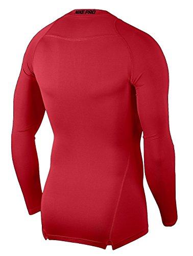 NIKE Pro Longsleeve Compression Shirt (University Red/Black, S) by NIKE (Image #2)