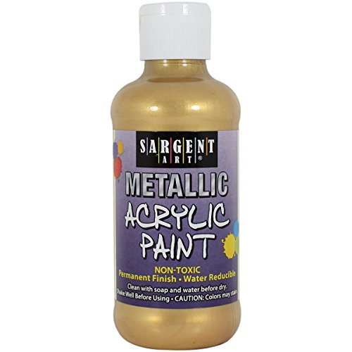 Metallic Canvas - Sargent Art 25-2381 8-Ounce Metallic Acrylic Paint, Gold