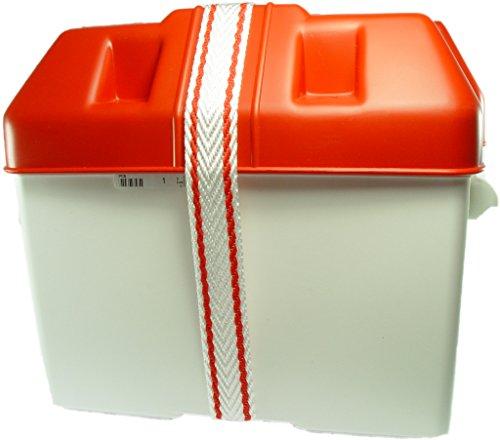 Batteriekasten mit Deckel und Befestigungsgurt