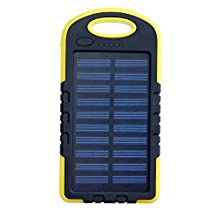 Sunyounger™ 5000mah Portable Power Bank Waterproof Dustproof Shockproof Iphone5s/Ipad4 Solar Charger Yellow Color