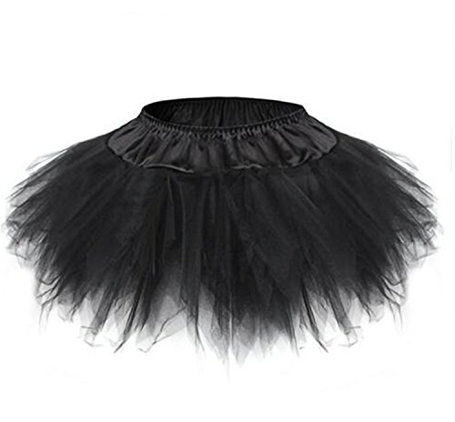 Blidece Women's Plus Size Classic Adult Tutu Skirt Great princess tutu dance skirt. Tulle Black (Plus Size Tutus Halloween)