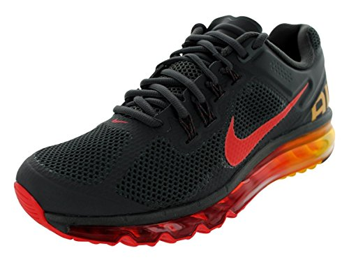 buy online 43293 df409 Nike Men s Air Max+ 2013 Drk Chrcl Chllng Rd Lsr Orng Running Shoe 8 Men US