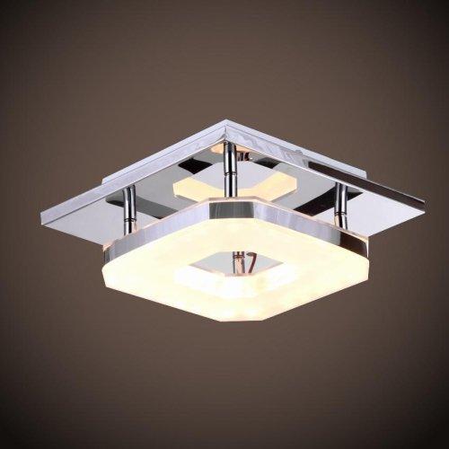 Lightinthebox 8w Led Acrylic Flush Mount, 1 Bulb Included, Modern Acrylic Electroplating Stainless Steelhome Ceiling Light Fixture Flush Mount, Pendant Light