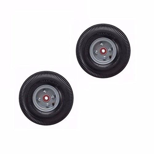 """(Pack of 2) Hand Truck Brand Pneumatic Air Tires 10"""" x 3...."""