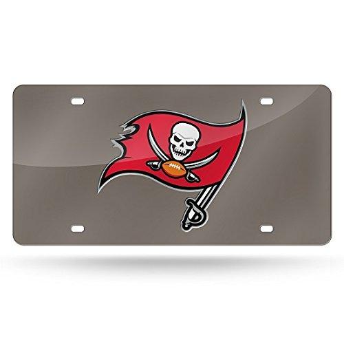 NFL Tampa Bay Buccaneers Laser Inlaid Metal License Plate Tag
