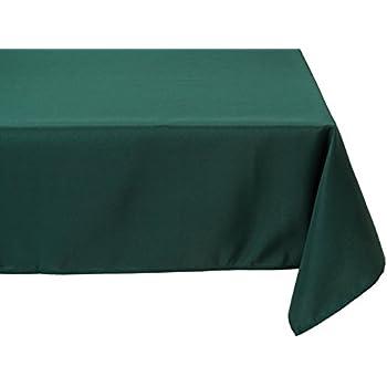 Charming LinenTablecloth 60 X 126 Inch Rectangular Polyester Tablecloth Hunter Green