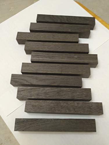 2 x oak wood turning blanks 50mm x 50mm x 200mm