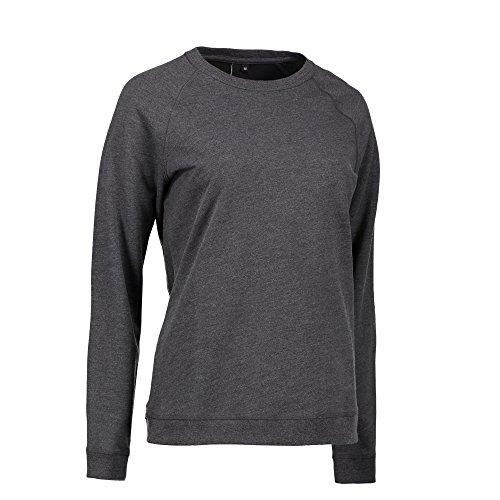 ID - Sudadera / jersey causal con cuello redondo para mujer Gris